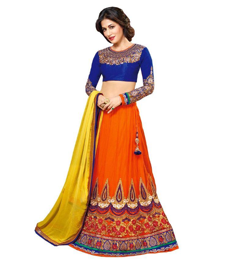 Loved it: Resham Fabrics Orange Net Embroidered Semi Stitched Lehenga, http://www.snapdeal.com/product/resham-fabrics-orange-net-embroidered/677118243132