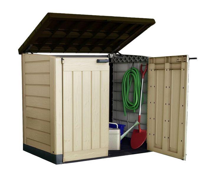 Plastic Outdoor Garden Storage Box Cabinet Utility Shed Wheelie Bin Weatherproof