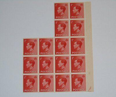 Stamp Pickers Great Britain 1936 Edward VIII MNH Block Lot Sc #231 $18+