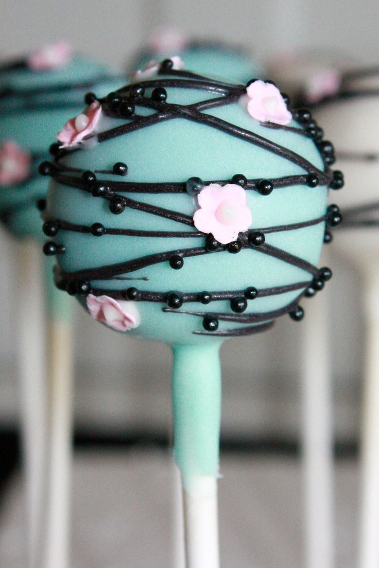 Cherry Blossom Cake Pops by sweetpopsshop on Etsy, $34.00