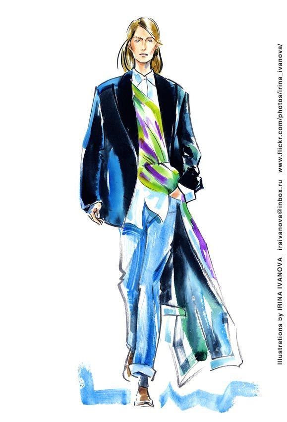 https://flic.kr/p/SJMi3k | img912 | Dries van Noten Fall 2017 Ready-to-Wear Collection.  #fashionillustration #runway #DriesvanNoten #FALL2017 #readytowear #illustration #fashion #model #accessory  #drawing #clothes #suit #female #watercolor #ink #fashionshow #hairstyle #makeup #fashionillustrator #иллюстрация #мода #одежда #макияж #artworkforsale #artwork #instafashion #fashioninsta