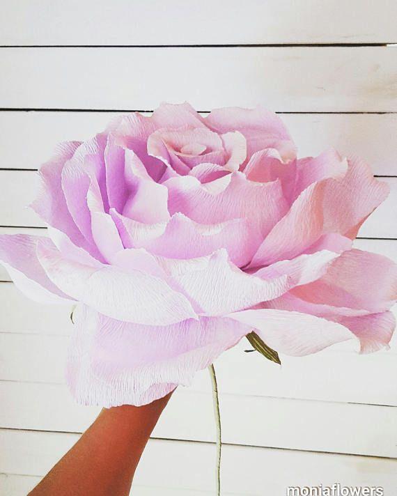 PURPLE GIGANT Paper Wedding Flower GIGANT  paper flower