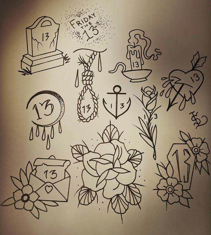 Friday 13th Tattoo Ideas: Friday The 13th Tattoos