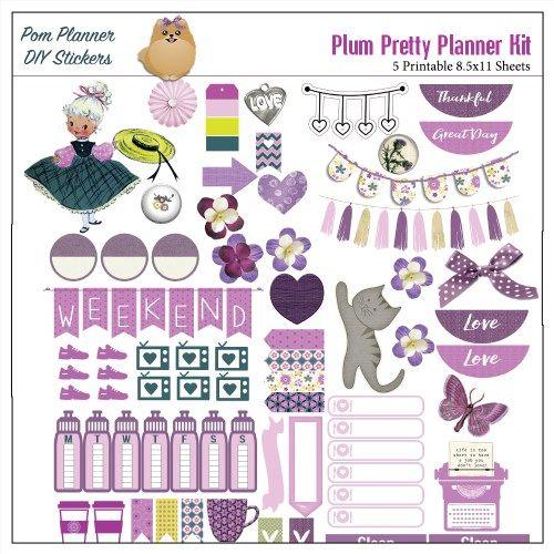 Free Printable Planner Stickers #purple #plannerlove #pomplanner…