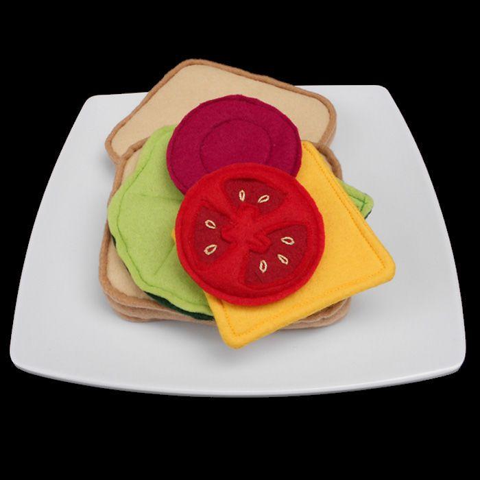 Felt food sandwich