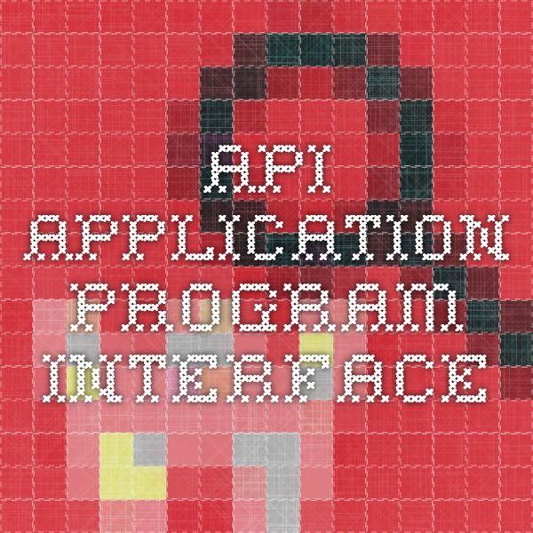 API - application program interface