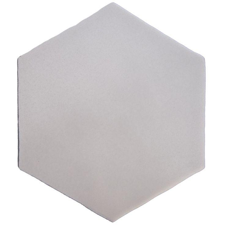 Tomette carrelage hexagonal gris clair style artisanal HE0811006   Carrelage hexagonal ...