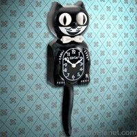 Kit Kat Clock - Black Cat Clock with Moving Tail