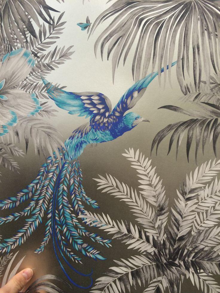 Matthew Williamson - Birds of Paradise - fuchsia, taupe, jade. John Lewis