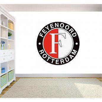 Feyenoord logo muursticker full color - QualitySticker