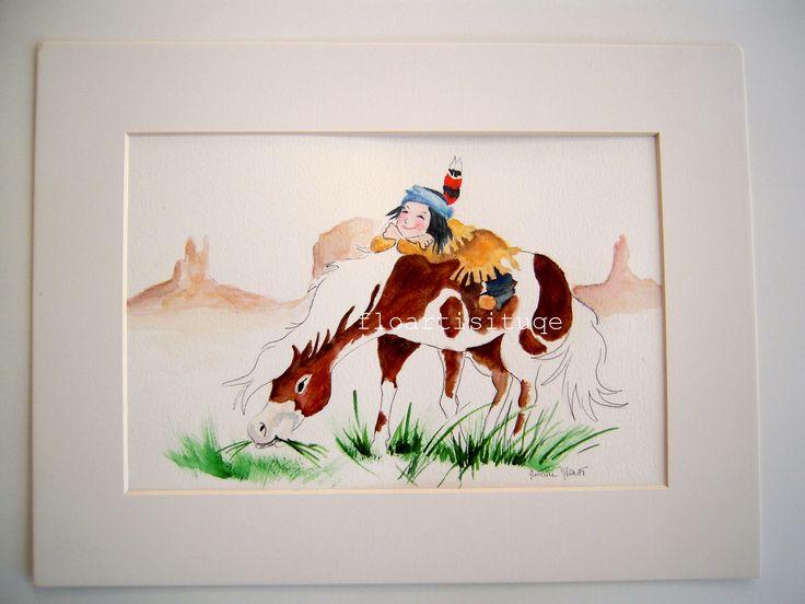 Idée cadeau NOEL - Décoration murale aquarelle pour chambre enfants