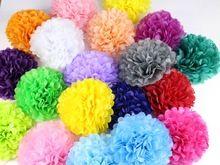 """30 шт. 4 """" 6 """" 8 """" ( 10 см 15 см 20 см ) оберточной бумаги Pompoms цвета…"""