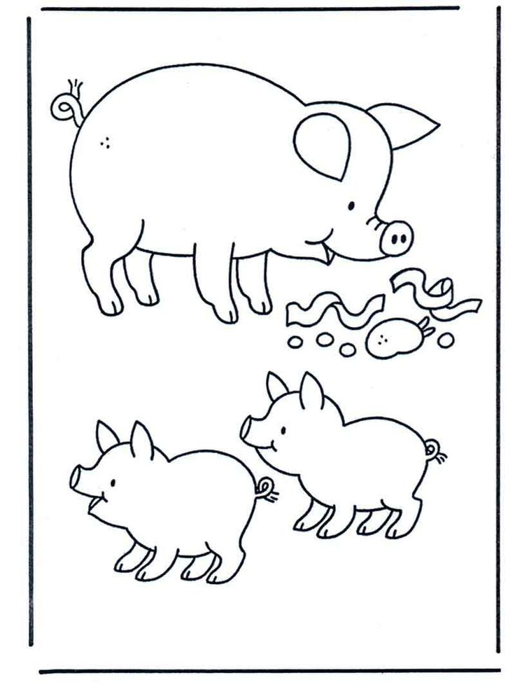 Coloring Pages Of Pigs from Animals Coloring Pages ...