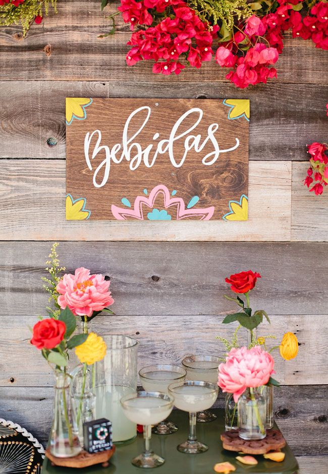 Add colorful details throughout your wedding reception for your fiesta themed wedding day.