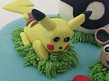 The Cake Lab Ranelagh, Dublin, Ireland, Artisan Baking Studio. Bespoke Wedding Cakes.  Pokemon Pikachu cake topper.