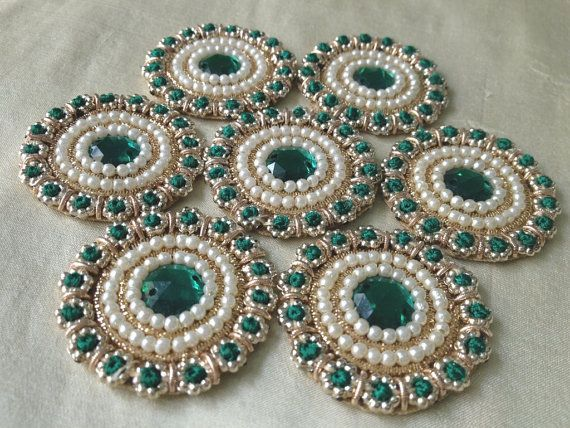 Indian Applique / Pearl Applique / Kundan Applique by Kalakruti, $4.00