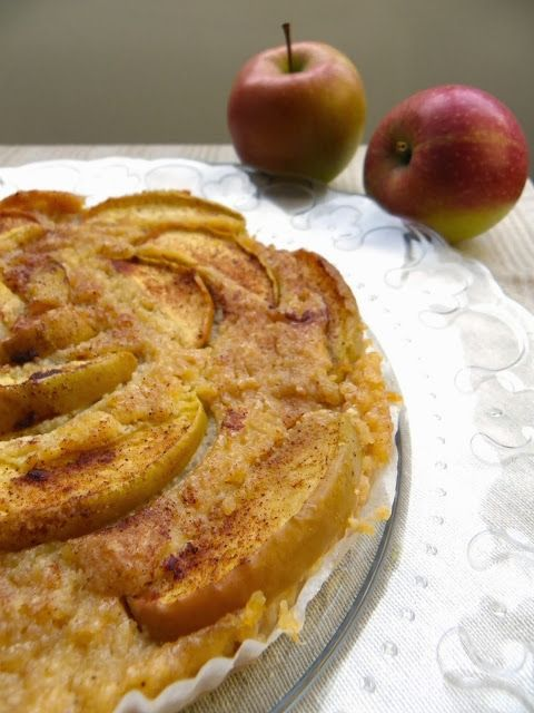 Rosenoisettes, Calme et Gourmandises...: Flan végétalien au tofu soyeux, pommes et cannelle (sans gluten)