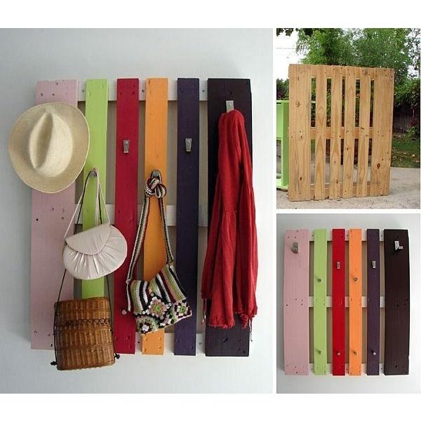 garderobe van pallets | stoer en kleur