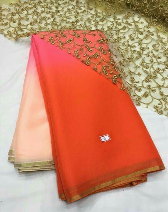 Multi color saree with designer blouse