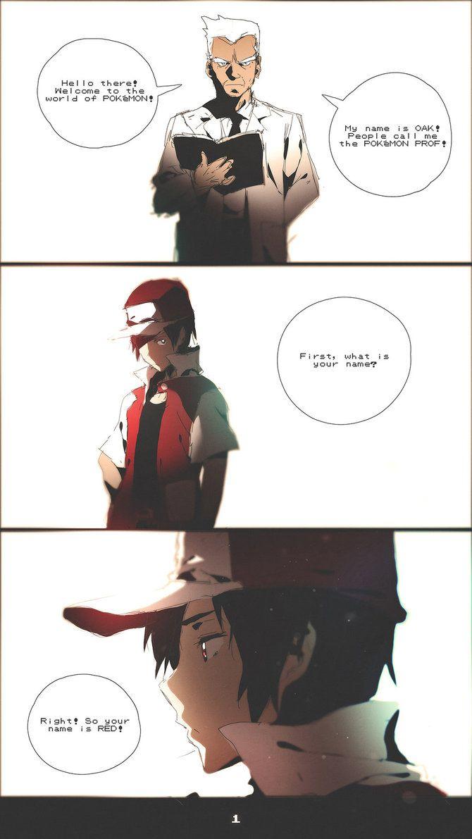 Pokemon Red Comic - 1 by moxie2D on DeviantArt