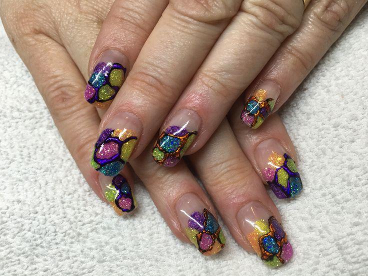 Nails, nailart, glitter