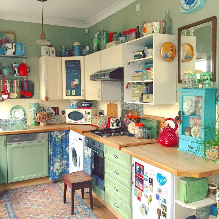 Vintage Country Kitchen Green 346 best vintage kitchen & serving images on pinterest   vintage