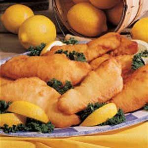 Lemon-Batter Fish = Baked