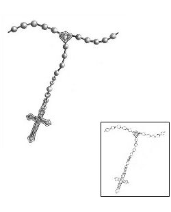 Show details for Rosary Beads Tattoo MIF-00010