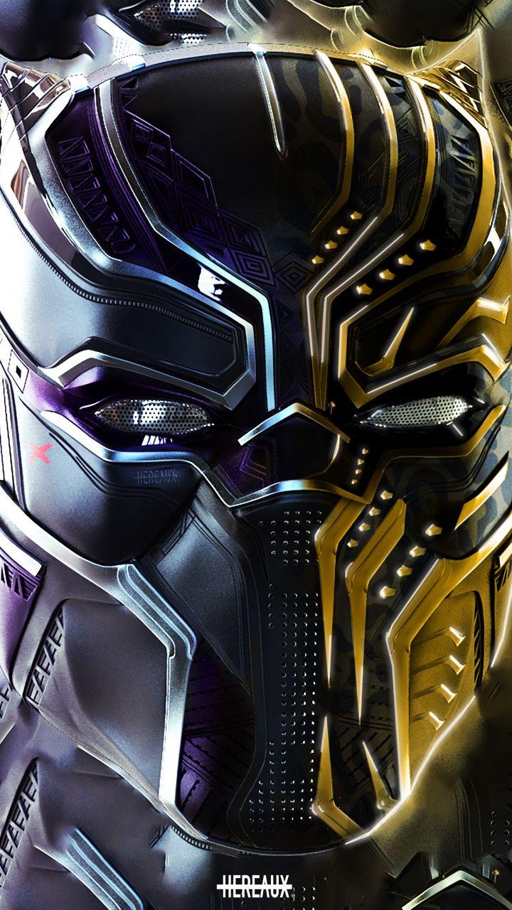 Black Panther And Erik Killmonger Faceoff Art 720x1280 Wallpaper Black Panther Art Black Panther Marvel Black Panther