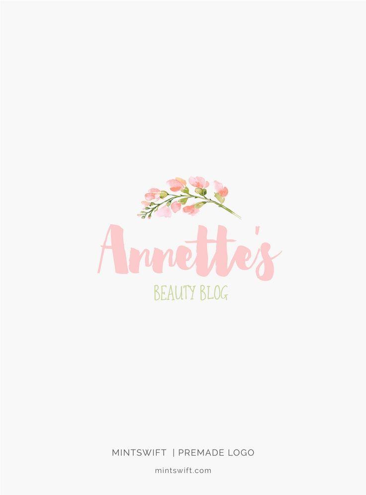 £40 | Annette's Premade Logo Design | MintSwift