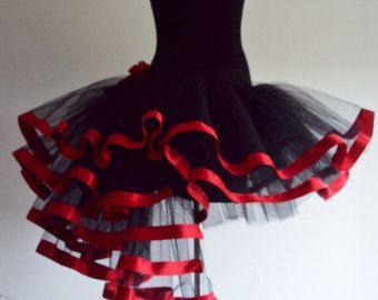 Black Gold Tutu Skirt Burlesque sizes U.S.2 4 6 by thetutustoreuk