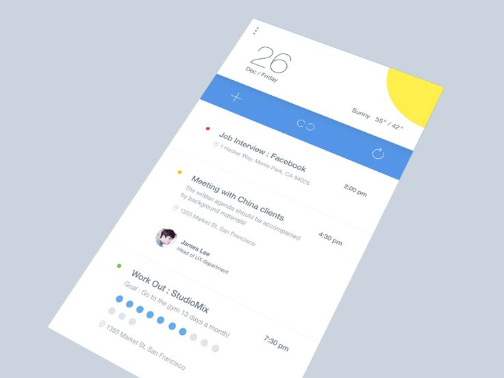 Assistant app animation interaction design by Mika Park