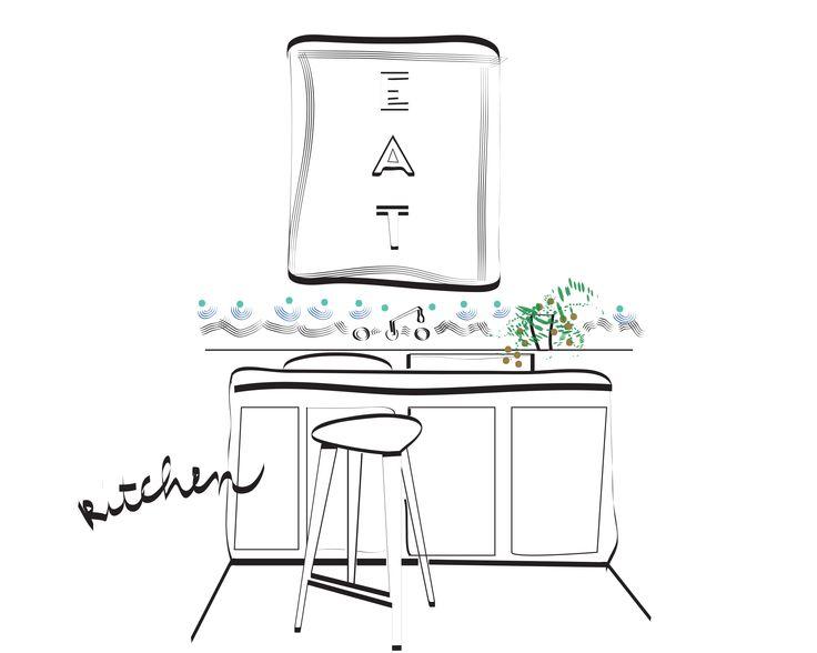 #illustration #home #kitchen #MLC letiziamlc.tumblr.com