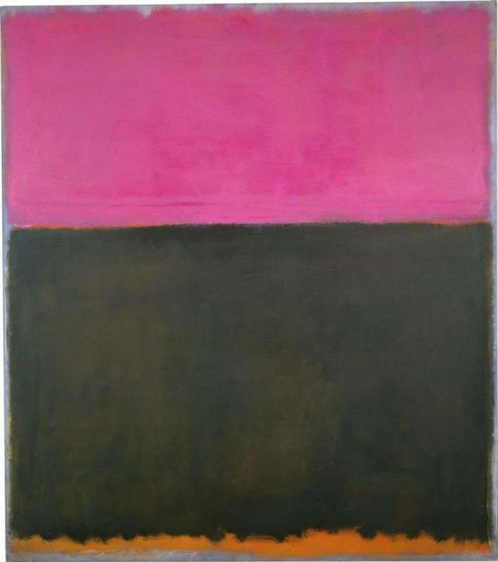 """""""Untitled,"""" 1953, Mark Rothko. Oil on canvas. National Gallery of Art, Washingon, D.C."""