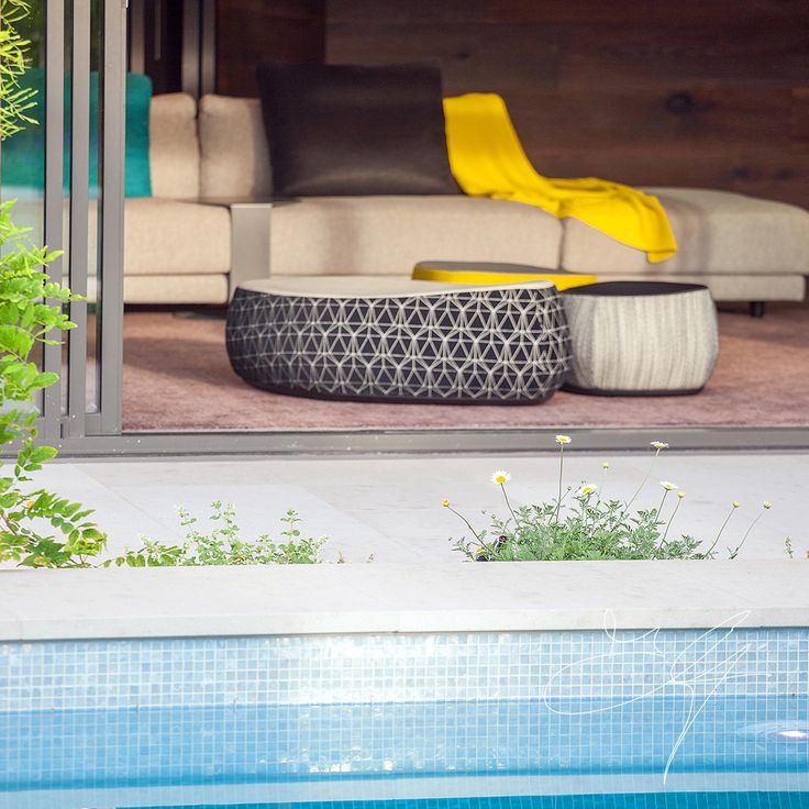 Poolside in one of our contemporary gardens - Eugene Gilligan Garden Design