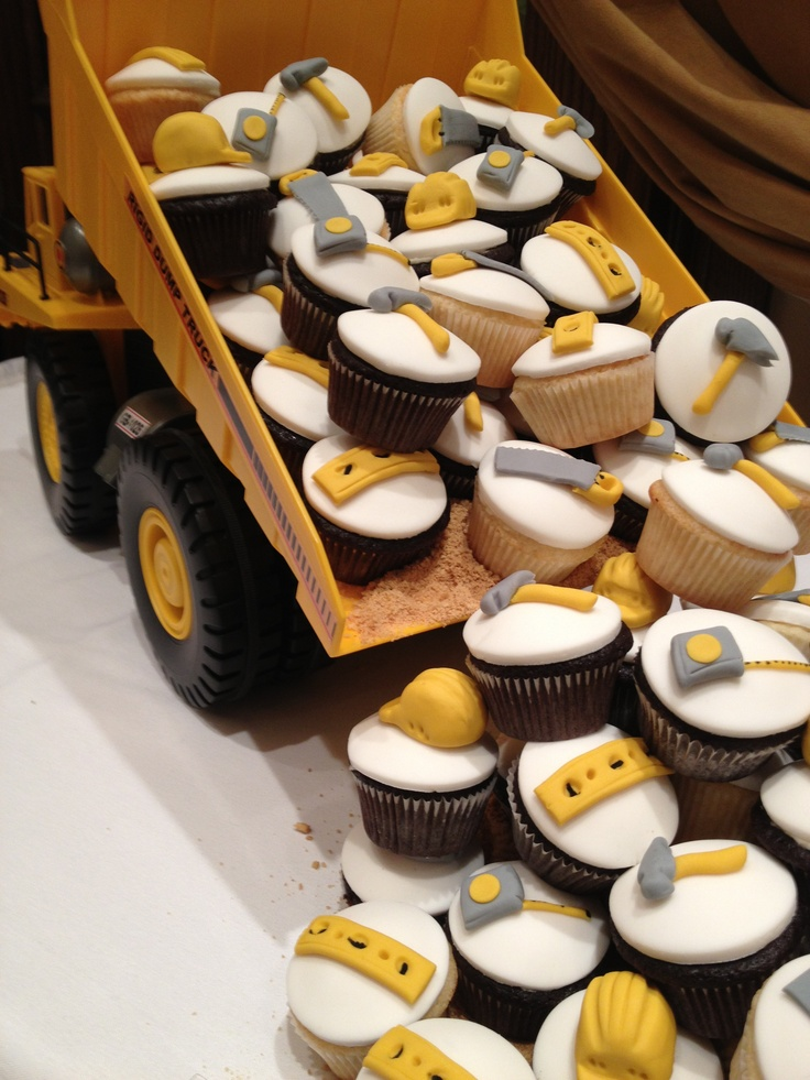 Dump Truck Cupcakes Birthday Party Pinterest Trucks