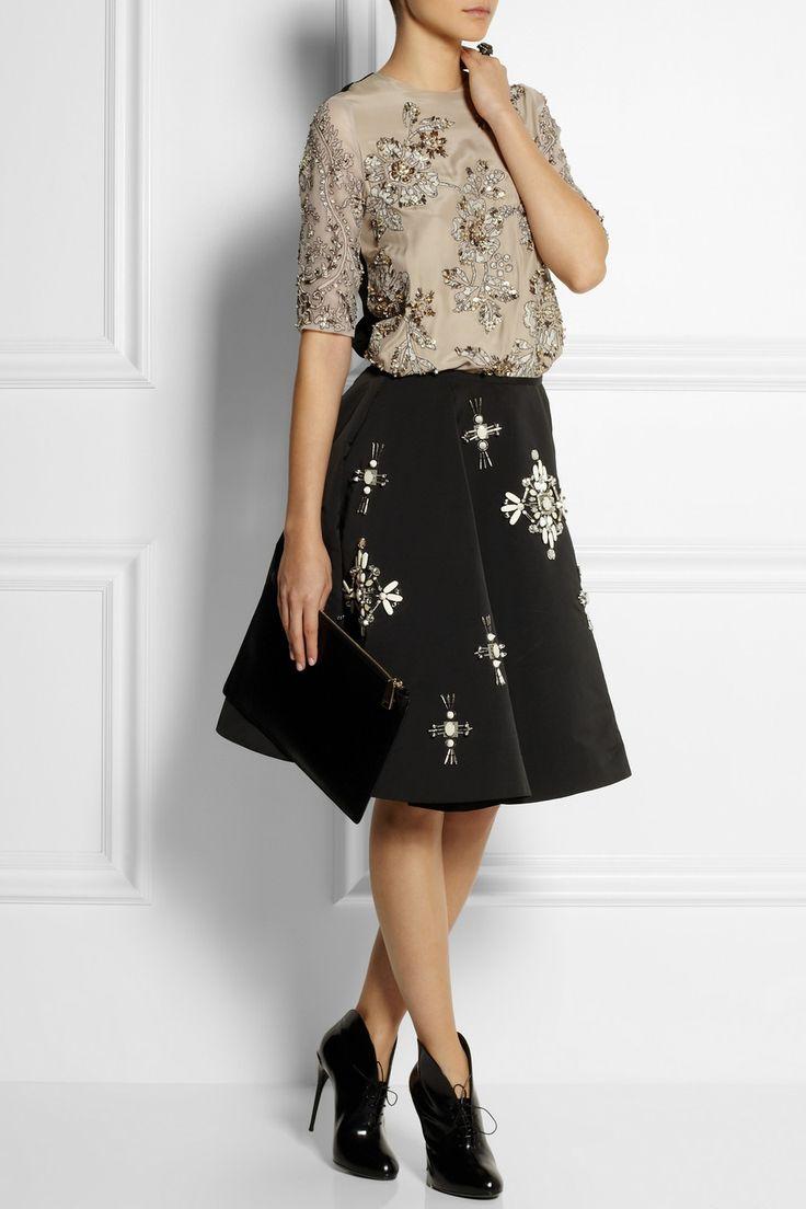 Biyan|Jane embellished silk-blend top|NET-A-PORTER.COM