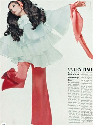 Photo by Giampaolo Barbieri 1969 Clothes Valentino Vogue Italia, March 1969
