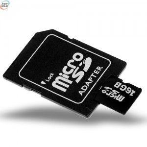 SD Micro Minnekort Med SD Adapter 16 GB