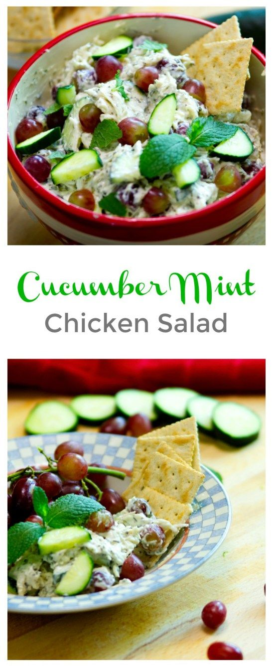 Cucumber Mint Chicken Salad - a refreshingly light and versatile dish with cool hints of mint!