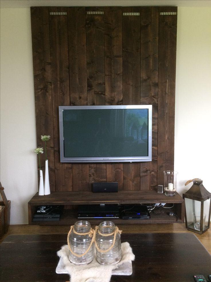 Tv wand steigerhout design  meubel