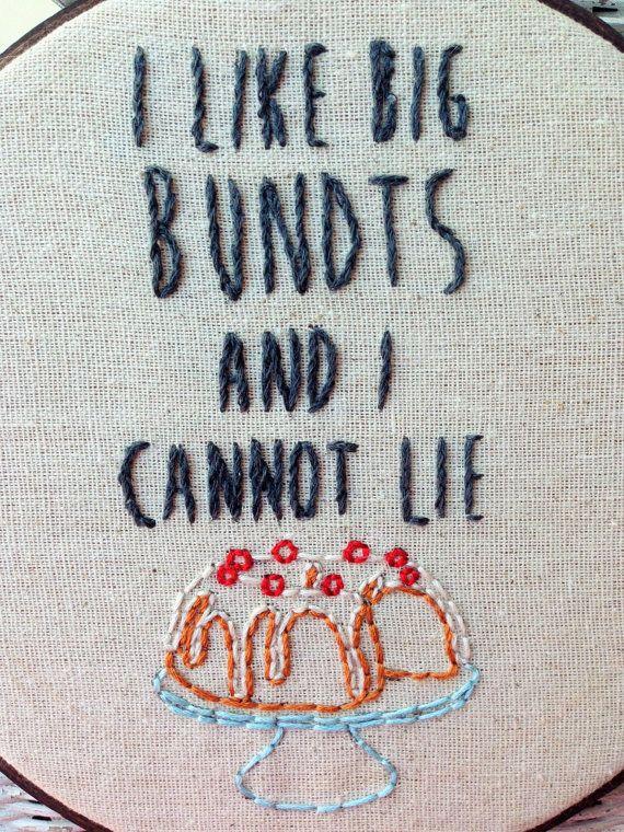 Funny Rap Embroidery Hoop Art // Baby Got by StitchinInRichmond