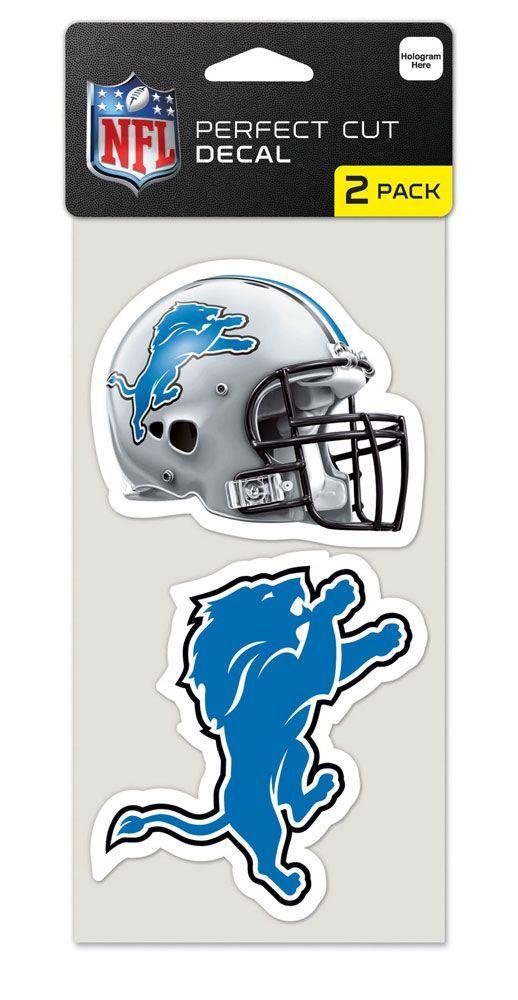 Detroit Lions NFL Set of 2 Die Cut Decals