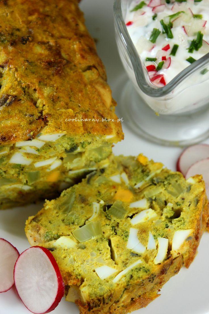 Pasztet jajeczny z brokułem