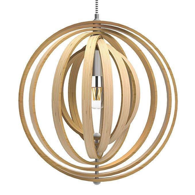Tomons Nordic Style Hollow Wood Ceiling Pendant Lights For Kitchen Island Adjustable Round S Ceiling Pendant Lights Ceiling Pendant Pendant Lighting