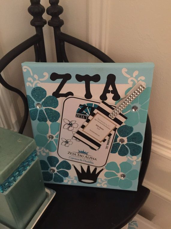 Zeta Tau Alpha  ZTA Greek Sorority Decorative by themesations