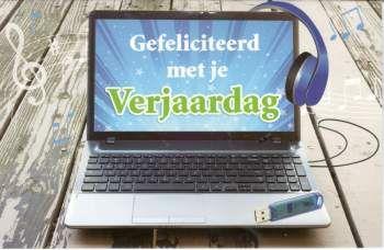 Gefeliciteerd met je verjaardag  #Wenskaart computer #verjaardagskaart