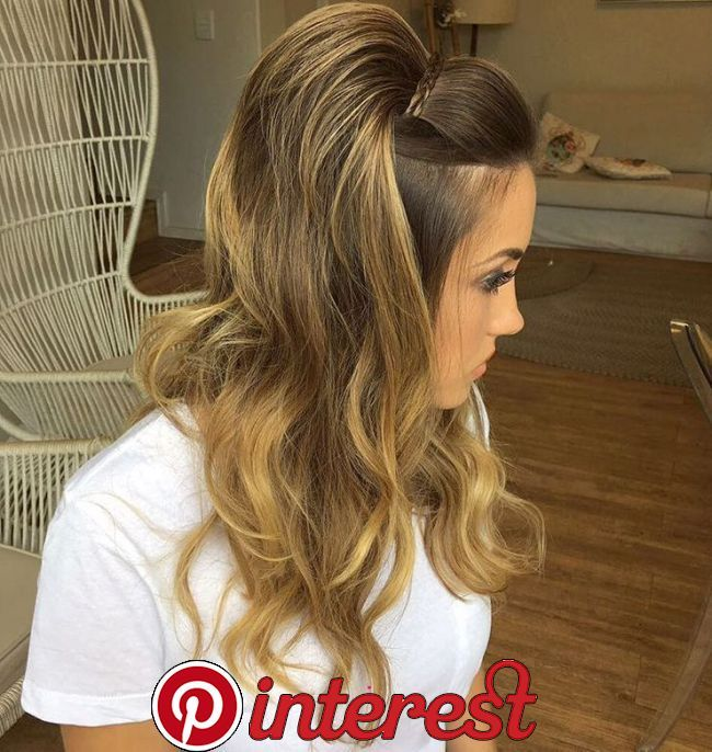 50 Half Updos For Your Perfect Everyday And Party Looks 28 Voluminous Caramel Hairstyle Pump Up The Vol Night Out Hairstyles Hair Styles Medium Hair Styles