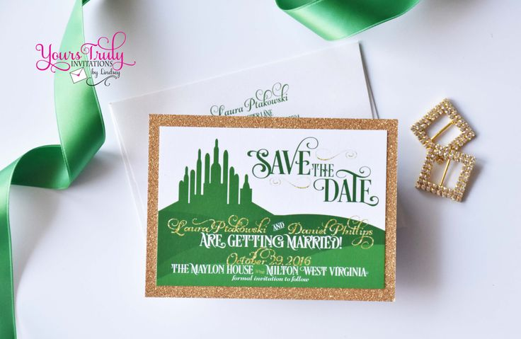 Wizard of Oz Emerald City Inspired Wedding by yourstrulyinvitation