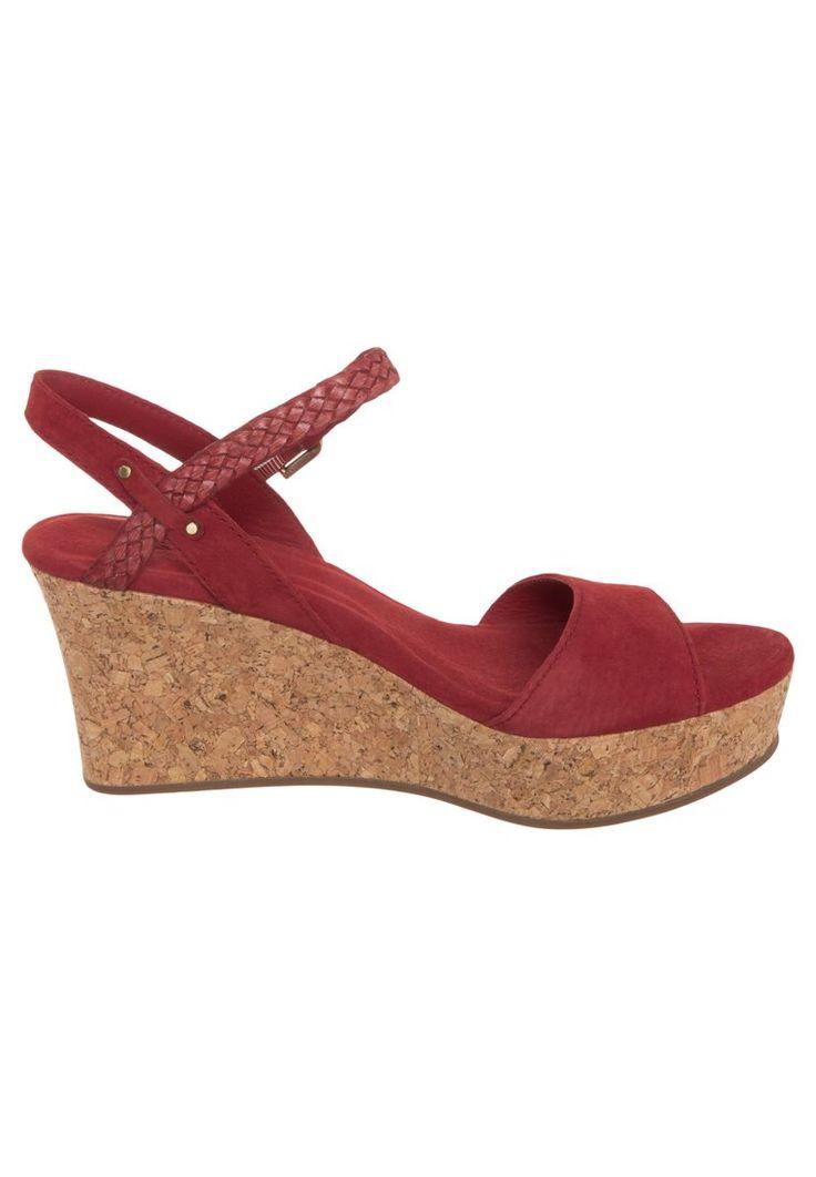 Ugg Italia - Donne D'ALESSIO - Sandali con zeppa - rosso shop online Ⅳ